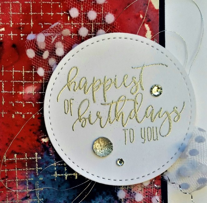 Picture Perfect Birthday - Brusho - Happiest of Birthdays by Tammy C. Wilson (zoom)