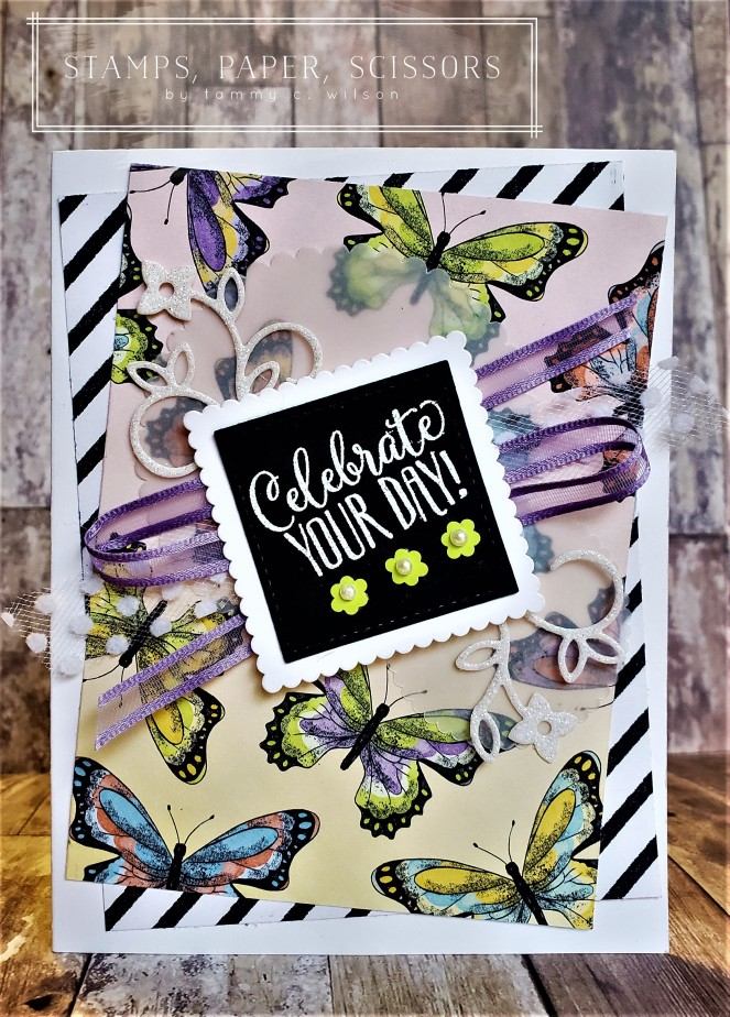 Hello Cupcake SAB - Botanical Butterfly by Tammy C. Wilson