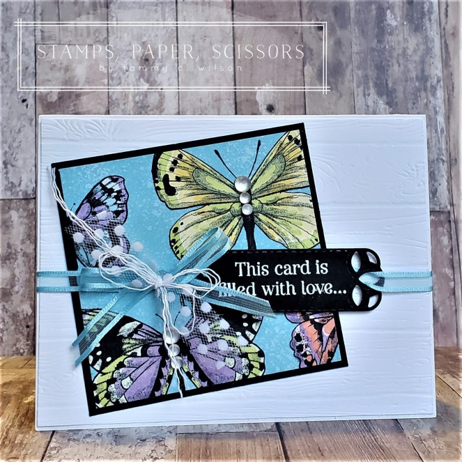 Special Celebrations - Botanical Butterfly - Stitched Labels by Tammy C. Wilson