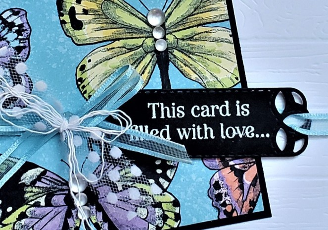 Special Celebrations - Botanical Butterfly - Stitched Labels by Tammy C. Wilson (zoom)
