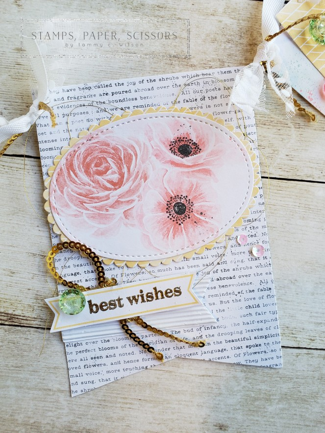 Paper Pumpkin - Sentimental Rose Banner - Best Wishes by Tammy C. Wilson