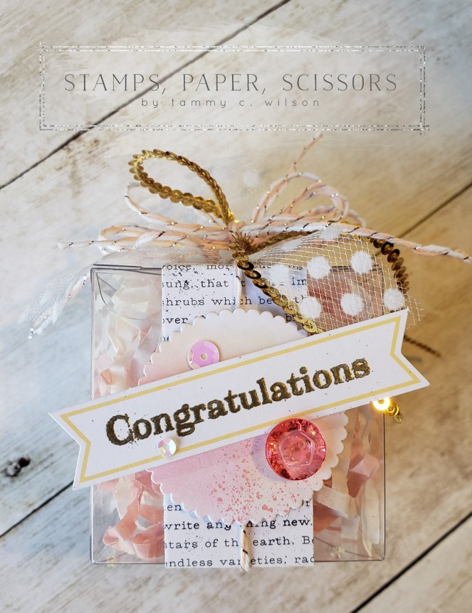 Paper Pumpkin - Sentimental Rose - Treat Box - Congratulations by Tammy C. Wilson
