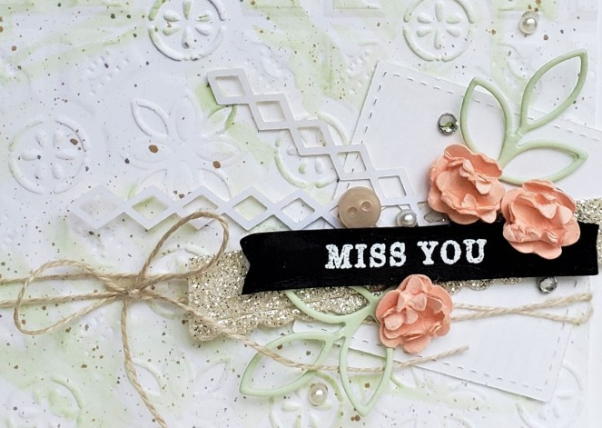 Tin Tile Embossing Folder - Miss You by Tammy C. Wilson (zoom)