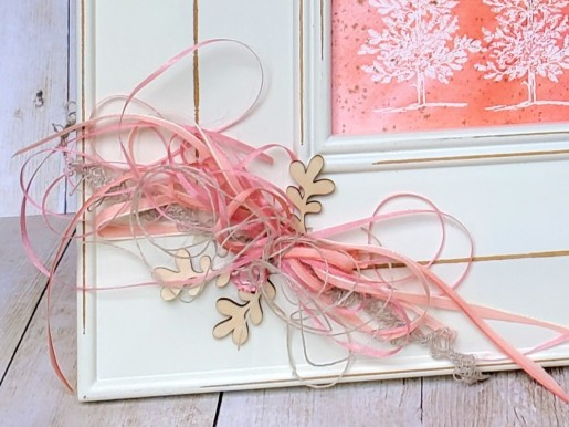Lovely as a Tree - Pink Watercolor Frame by Tammy C. Wilson (zoom)