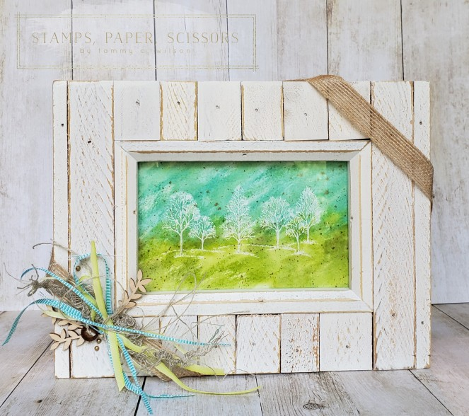 Lovely as a Tree - Watercolor Frame by Tammy C. Wilson