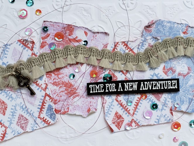 Woven Threads - Well Said - Tin Tile by Tammy C. Wilson (zoom)