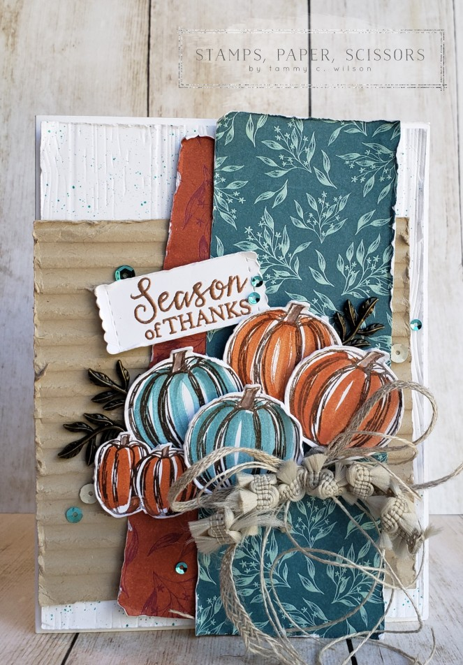 Gather Together - Pinewood Planks - Corrugated by Tammy C. Wilson