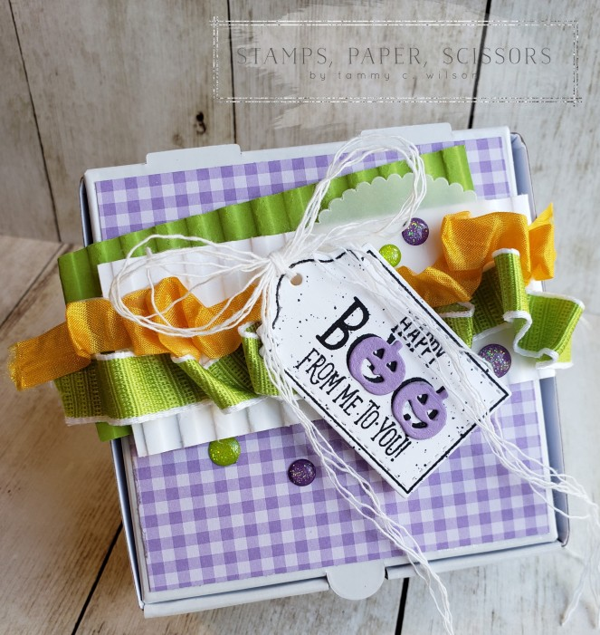 Tags Tags Tags - Halloween - Mini Pizza Box by Tammy C. Wilson