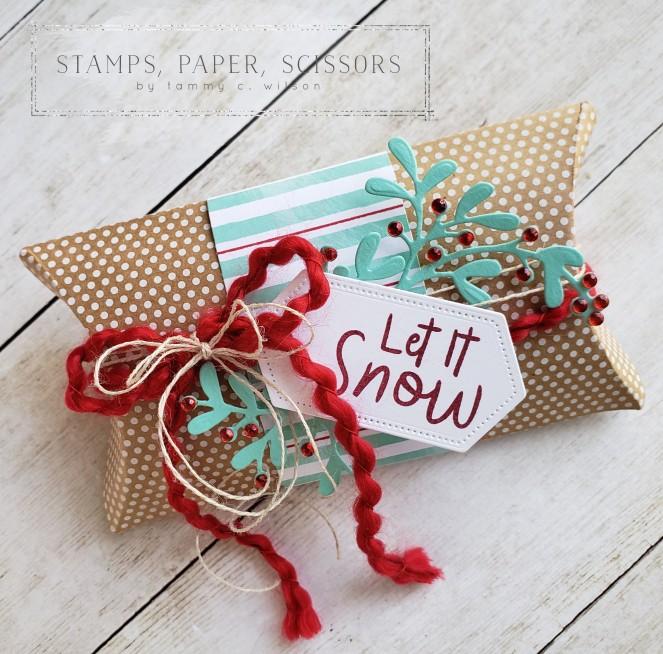Christmas Layers - Snowman Season - Pillow Box by Tammy C. Wilson