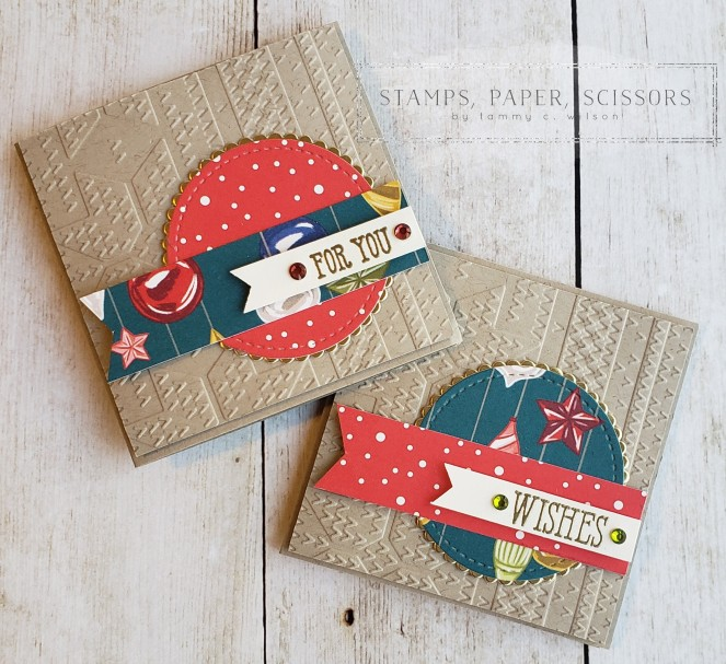 Night Before Christmas - 3 x 3 Mini Cards by Tammy C. Wilson