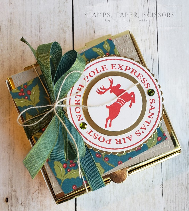 Night Before Christmas - Memories & More - Mini Pizza Box by Tammy C. Wilson