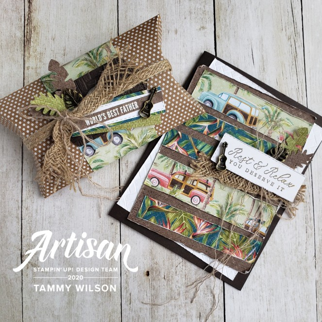 Timeless Tropical - Tropical Oasis - Card and Box by Tammy C. Wilson