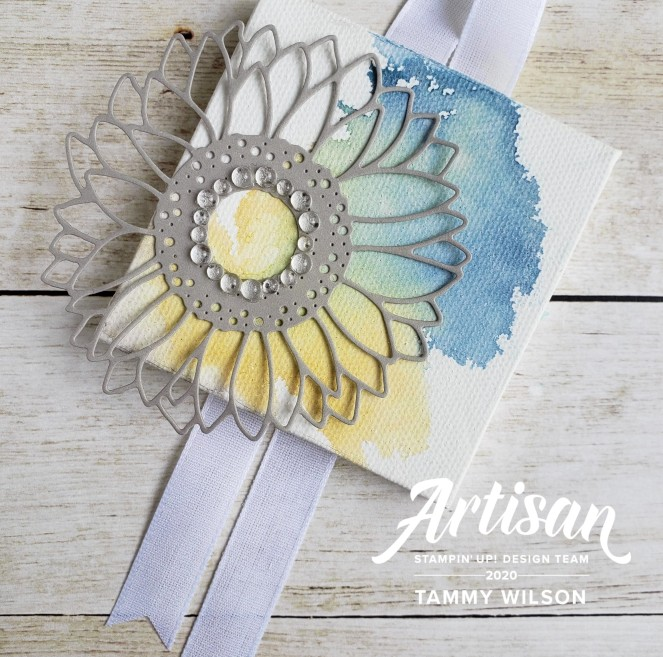Flowers for Every Season - Celebrate Sunflowers - Canvas by Tammy C. Wilson (watermark)